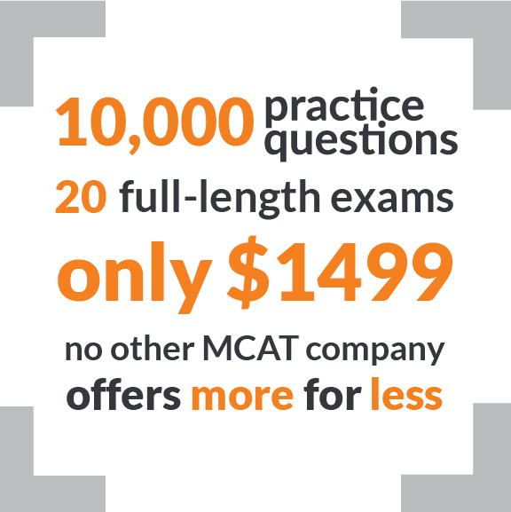 Best MCAT prep course with 20 full-length MCAT practice tests for only $1499