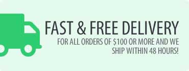 Two day shipping and free shipping over 100$