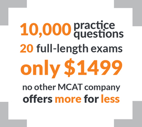 complete mcat prep course with 20 full-length mcat practice tests, 9 books and 10 thousand Q&As
