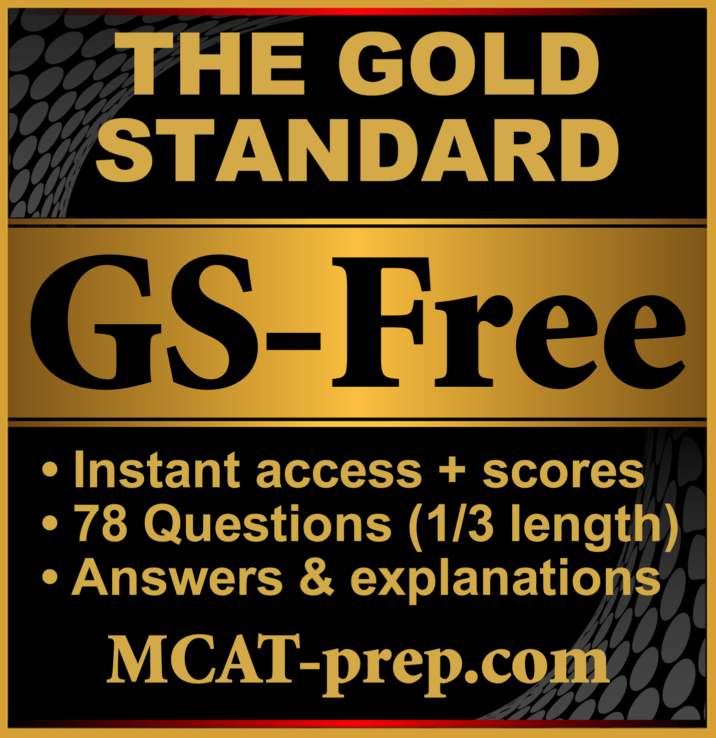 GS-Free MCAT Practice Test
