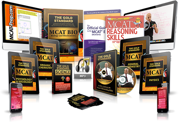 Raise MCAT scores with The Gold Standard MCAT test books and videos